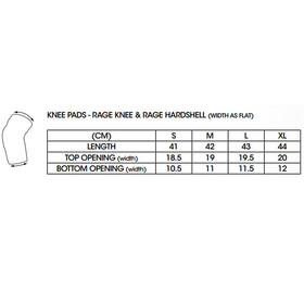 SixSixOne Rage Knee Guard black